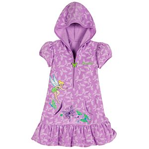Personalizable Hooded Tinker Bell Cover Up for Girls
