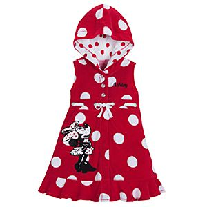 Personalizable Polka-Dot Minnie Mouse Cover-Up for Girls