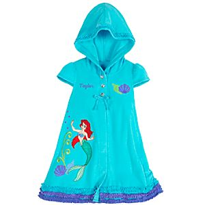 Personalizable Hooded Ariel Cover Up for Girls