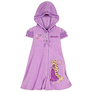 Personalizable Hooded Rapunzel Cover Up for Girls