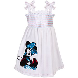 Smocked Minnie Mouse Cover-Up Dress for Girls