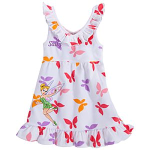 Personalizable Tinker Bell Cover-Up Dress for Girls