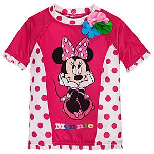 Minnie Mouse Rashguard for Toddler Girls