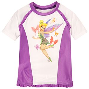 Tinker Bell Rashguard for Toddler Girls