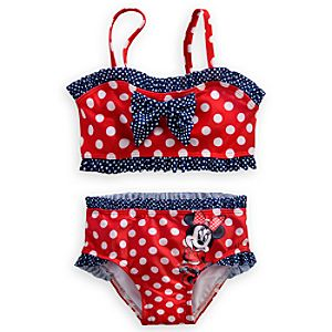 Minnie Mouse Swimsuit for Girls - Red 2-Piece