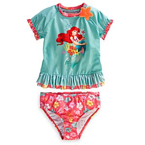 Ariel Deluxe Rashguard Swim Set for Girls