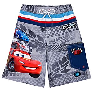 Cars 2 Lightning McQueen Swim Trunks for Boys