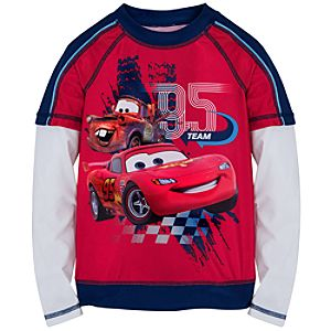 Double-Up Long Sleeve Cars 2 Rashguard for Boys