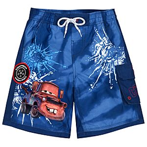 Cars 2 Tow Mater Swim Trunks for Boys