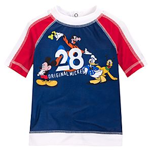 Mickey Mouse and Friends Rash Guard for Toddler Boys