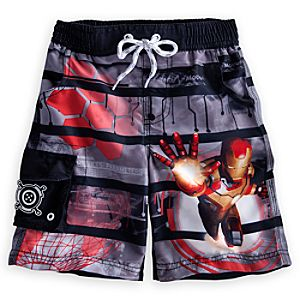 Iron Man Swim Trunks for Boys