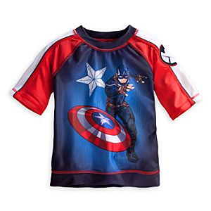 Captain America Rashguard for Boys