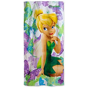 Personalizable Tinker Bell Beach Towel