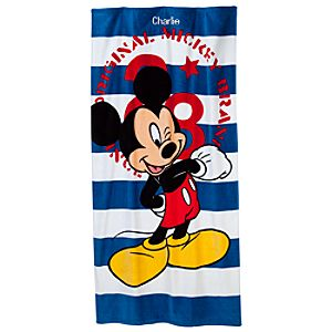 Personalizable Mickey Mouse Beach Towel
