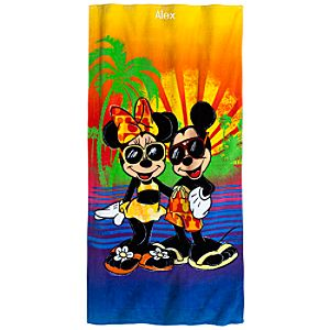 Summer Brights Minnie and Mickey Mouse Beach Towel