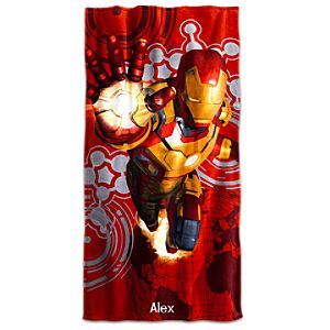 Iron Man Beach Towel - Personalizable