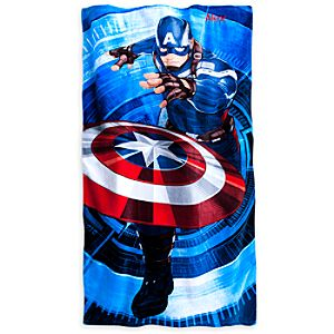 Captain America Beach Towel - Personalizable