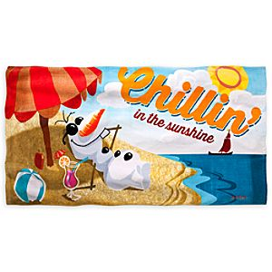 Olaf Beach Towel - Personalizable - Frozen