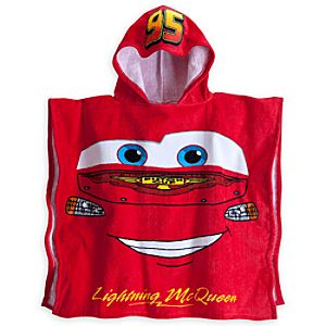 Lightning McQueen Hooded Towel for Boys