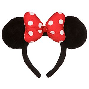 Plush Minnie Mouse Ears for Girls