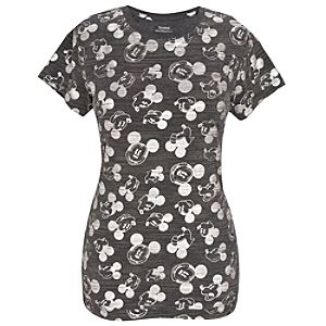 Silver Foil Mickey Mouse Tee