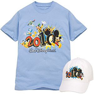 2010 Walt Disney World Resort Tee and Hat Set for Men