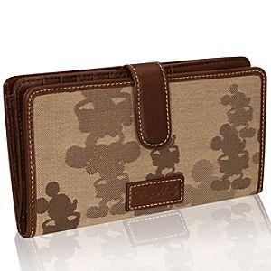 Tonal Mickey Mouse Checkbook Wallet by Dooney & Bourke