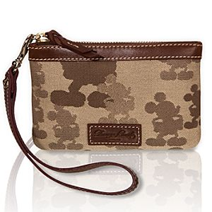Tonal Mickey Mouse Wristlet by Dooney & Bourke
