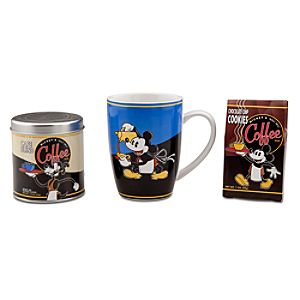 Mickey Mouse Coffee, Mug & Cookie Gift Set -- 3-Pc.
