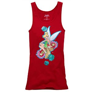Floral Tattoo Tinker Bell Tank Top