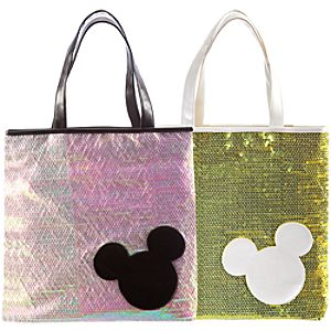 Sequin Mickey Mouse Tote Bag