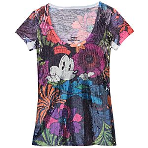 Sequinned Minnie Mouse Tee for Women
