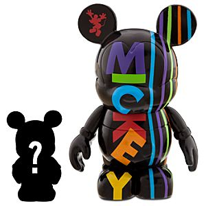 Vinylmation Oh Mickey! 3 Black Figure + 1 1/2 Vinylmation Jr. Figure