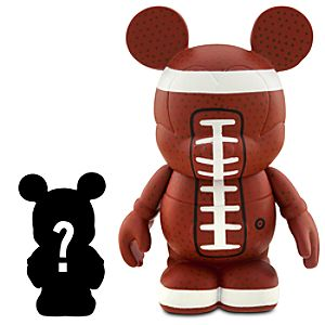 Vinylmation Sports Series 3'' Football Figure + 1 1/2'' Vinylmation Jr. Figure