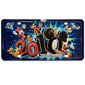 2010 Walt Disney World License Plate