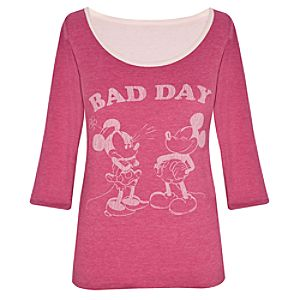 Reversible Good Day Bad Day Minnie and Mickey Mouse Tee