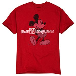 Red Walt Disney World Mickey Mouse Tee for Boys