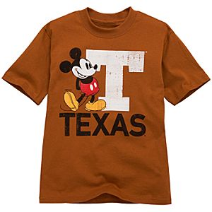 University of Texas Mickey Mouse Tee for Kids