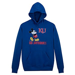 University of Kansas Mickey Mouse Hoodie for Men