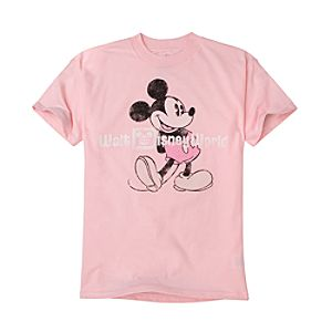 Pink Walt Disney World Resort Mickey Mouse Tee for Toddlers