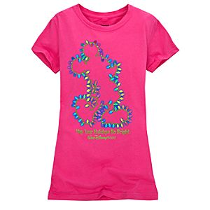 Christmas Lights Girls Mickey Mouse Tee