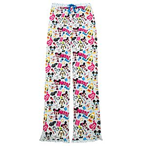 Mickey Mouse and Friends Nerds Notebook Pajama Bottoms