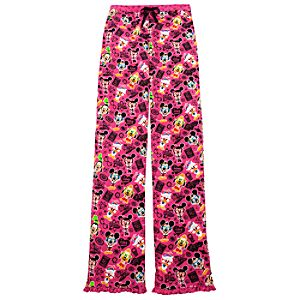 Mickey Mouse and Friends Nerds Pajama Bottoms in Pink