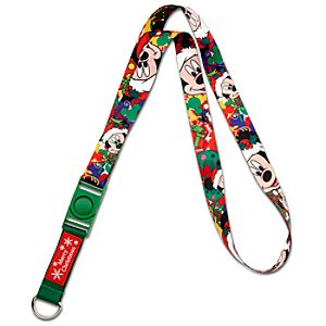 Deluxe Christmas Mickey Mouse Lanyard