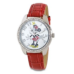 Rhinestone Minnie Mouse Watch