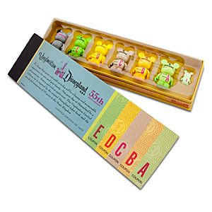 Vinylmation Disneyland Ticket Book Limited Edition Set - 3 -- 7-Pc.