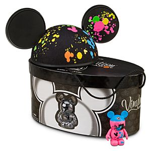 Vinylmation Urban 5 Series Ear Hat and 3 Figure -- Fluorescent