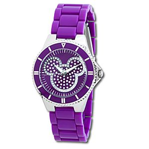 Pavé Crystal Mickey Mouse Watch in Purple for Women
