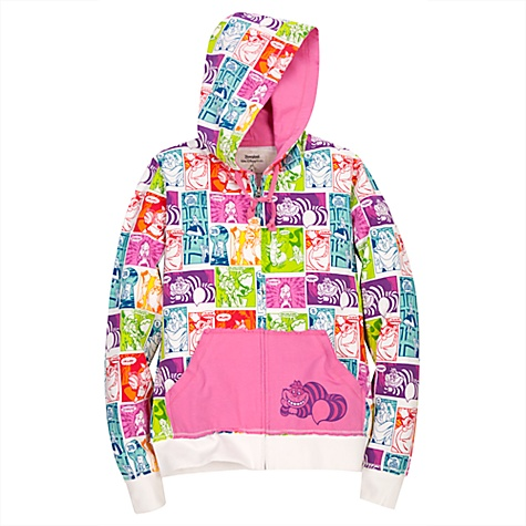 Hooded French Terry Alice in Wonderland Jacket