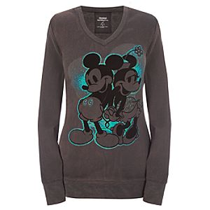 Long Sleeve Minnie and Mickey Mouse Thermal Tee -- Gray